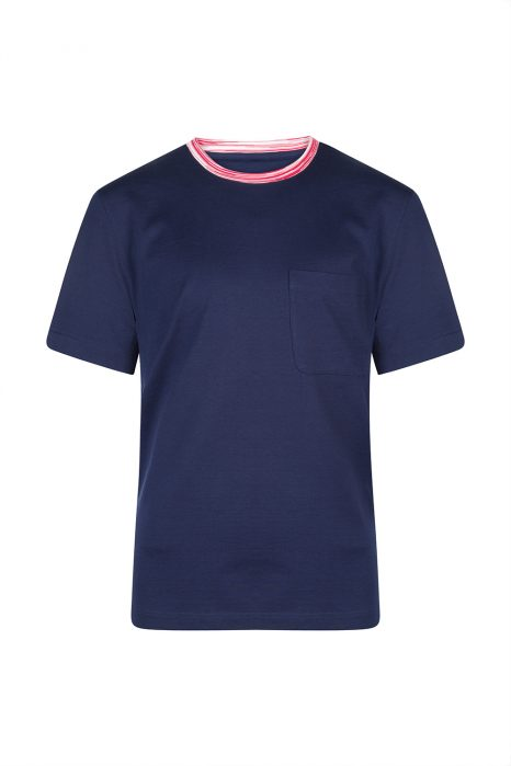 Missoni Men's Contrast Collar T-Shirt Navy
