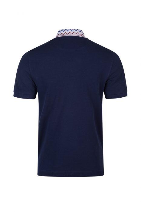 Missoni Men's Contrast collar Polo Shirt Navy