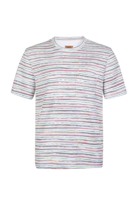 Missoni Men's Polka Dot Striped T-shirt White