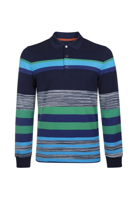 Missoni Men's Cotton Piqué Rugby Shirt Blue