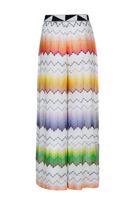 Missoni Women's Rainbow Wave Palazzo Pants White