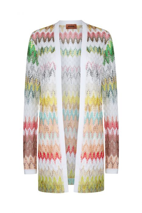Missoni Women's Leaf Patterned Cardigan White