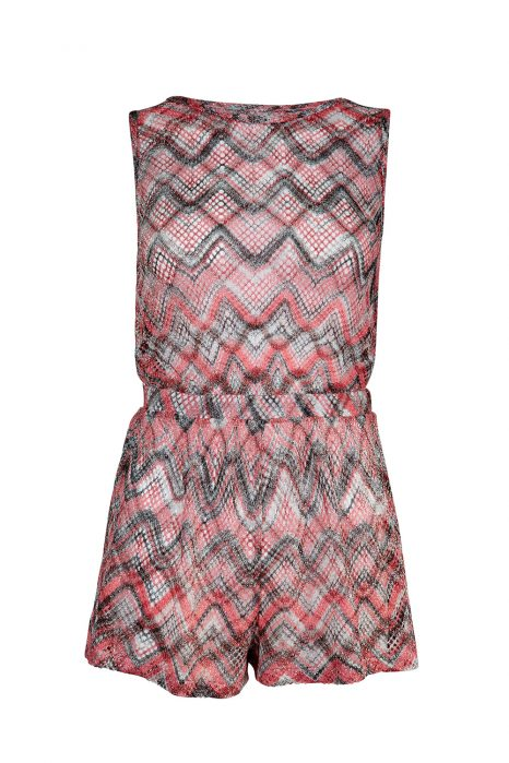 Missoni Women's Zig Zag Lamé Playsuit Red