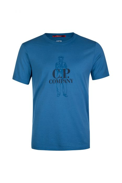 C.P. Company Sailor Logo Print T-shirt Blue