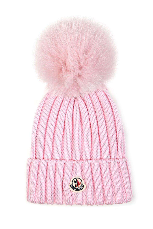 e2e868d54d5d Moncler Women s Pom-pom Beanie Hat Pink - Linea Fashion