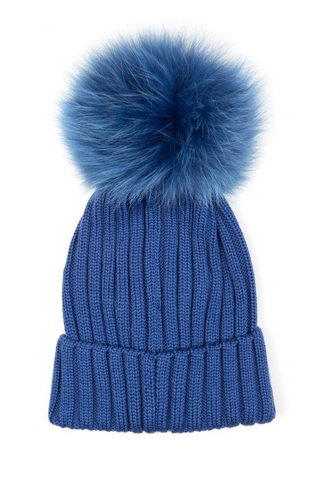 c9a18ebe33a Moncler Women s Pom-pom Beanie Hat Blue ...