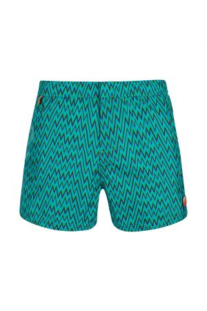 Missoni Men's Mare Zig Zag Swim Shorts Green