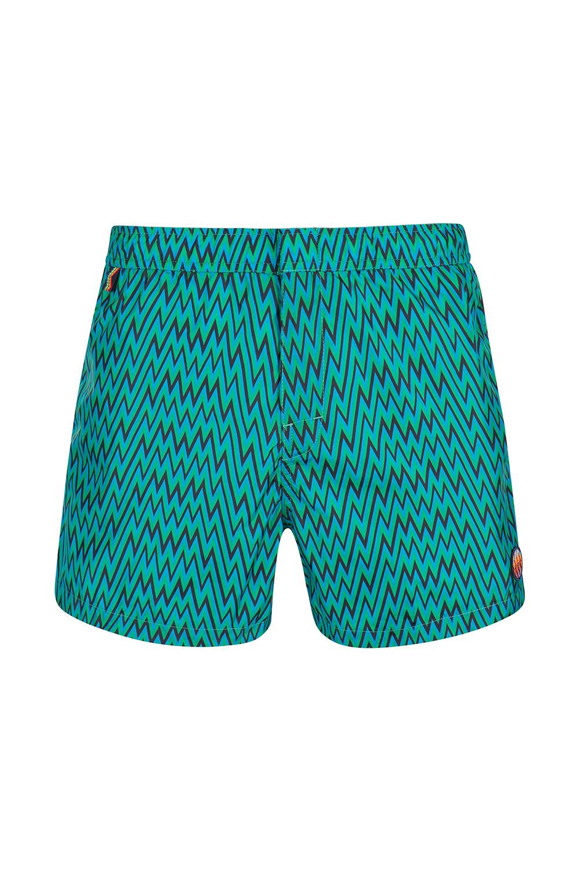 ec894c975c Missoni Mare Men's Zig Zag Swim Shorts Green   Linea Fashion Linea ...