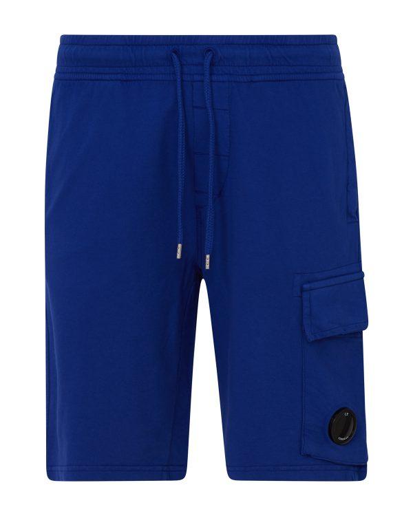 C.P. Company Men's Cotton Cargo Shorts Blue BACK