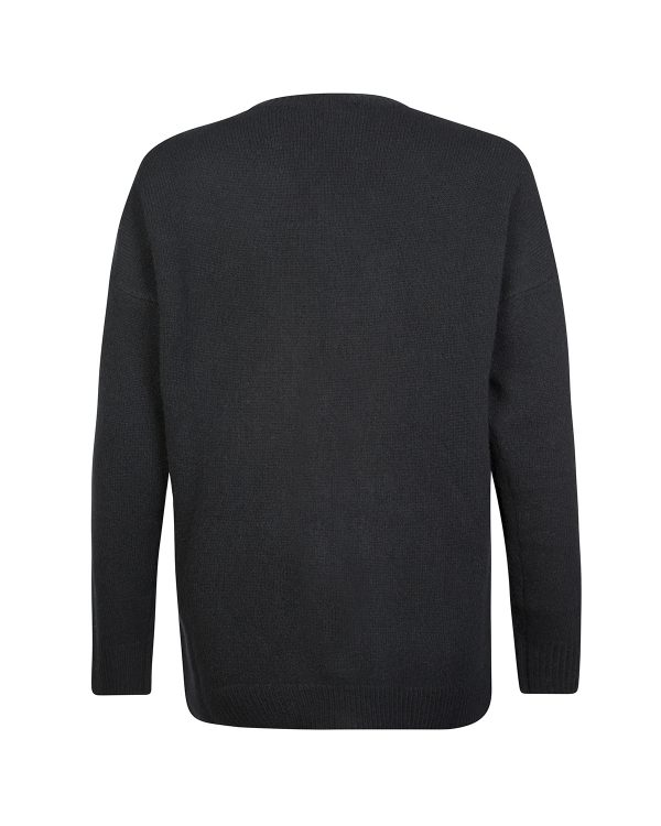 Blumarine Women's Wool-Cashmere Blend Cardigan Black