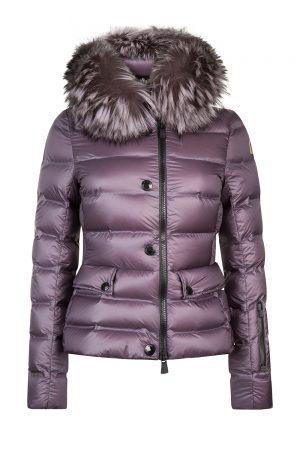 Moncler Grenoble Armotech Women's Fur-trimmed Jacket Purple