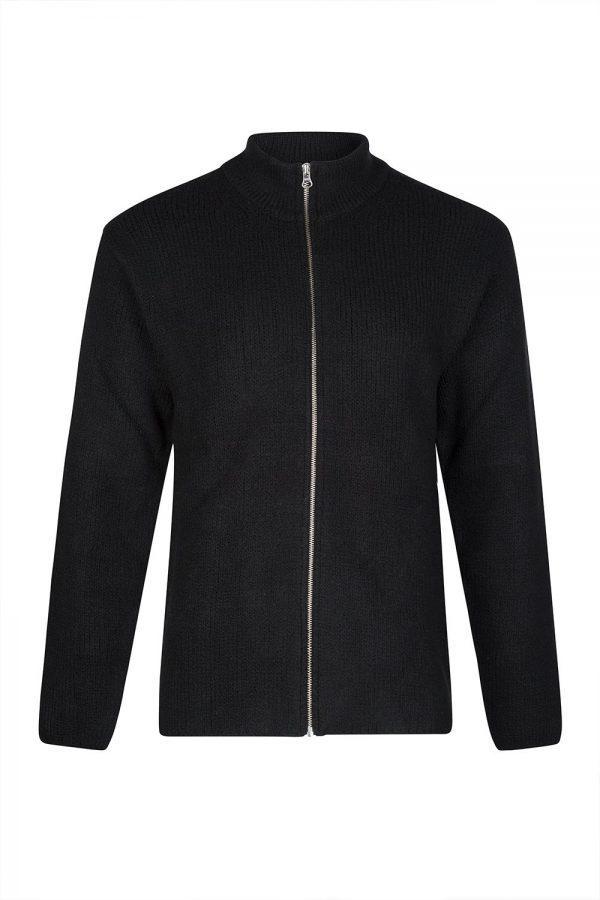 Ten C Men's Wool-blend Zip Cardigan Black