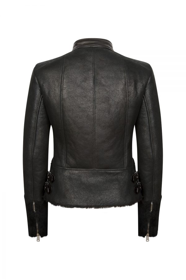 Belstaff Farnworth Women's Shearling Biker Jacket Black
