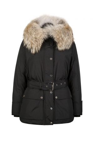 Belstaff Dawlby Women's Belted Down Coat Black