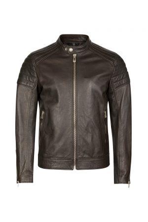 Men's Leather Jacket Rustic Moss