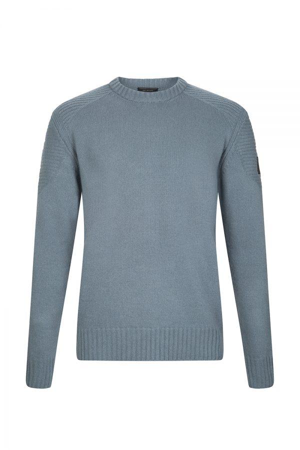 Belstaff Southview Men's Sweater Blue Flint