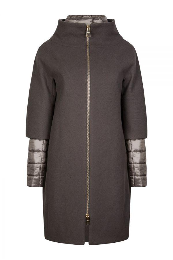 Herno Ladies Wool and Down Coat Grey