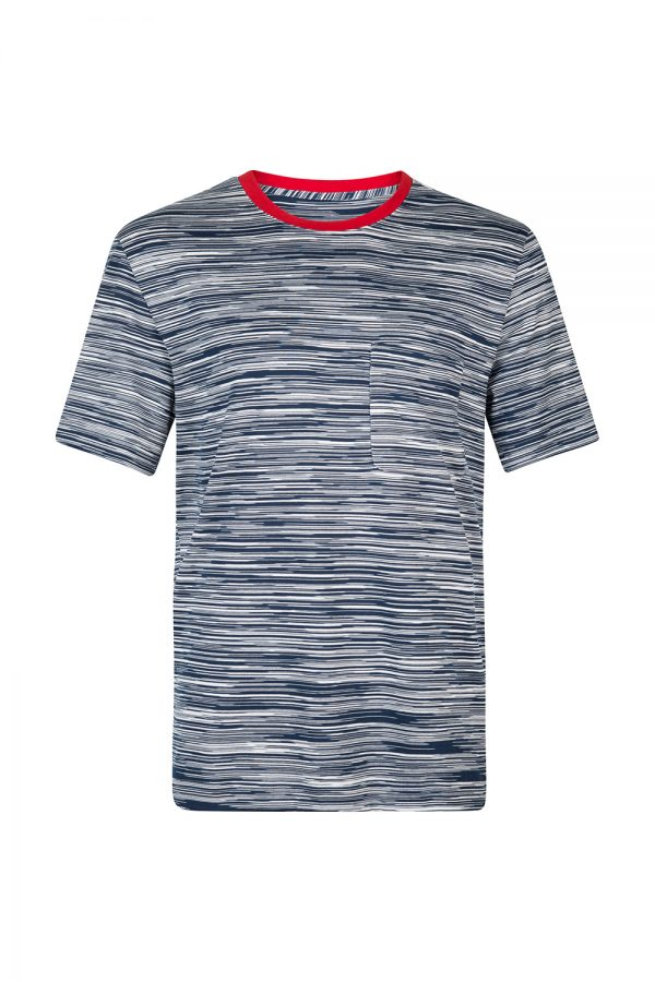 MISSONI MEN'S Two-tone Stripe T-shirt Navy