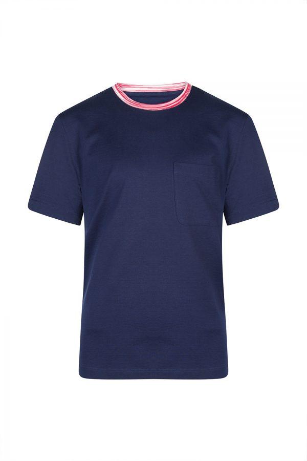 Missoni Men's Contrast Collar T-Shirt Navy