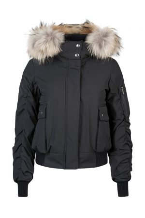 Tatras Valda Women's Hooded Bomber Jacket Black