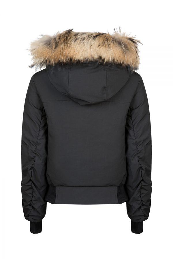 Tatras Valda Women's Hooded Bomber Jacket Black