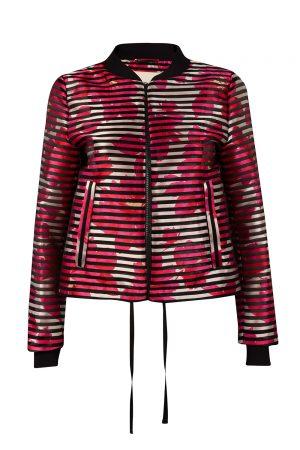 Herno Women's Floral Bomber Jacket Pink