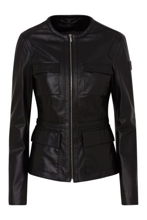 Belstaff Brimms Women's Nappa Leather Jacket Black FRONT
