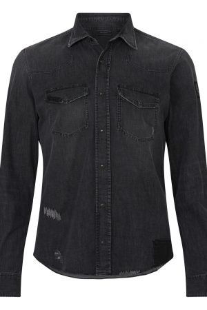 Belstaff Men's Southcott Denim Shirt Black FRONT