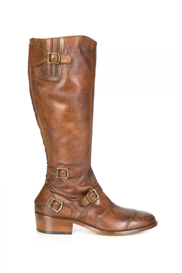 Belstaff Trialmaster Women's Long Boots Cognac Brown