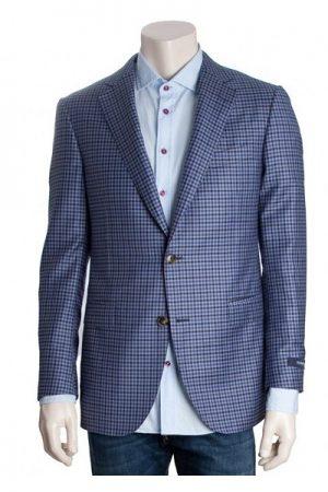 Pal Zileri Men's Wool Woven Check Suit Jacket Blue