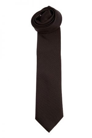 Pal Zileri Men's Striped Silk Tie Black