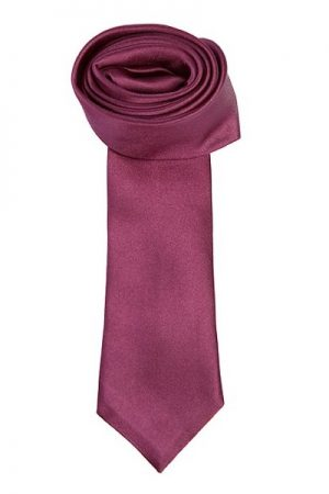 Pal Zileri Men's Burgundy Silk Satin Tie