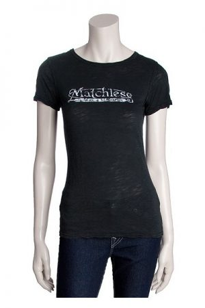Matchless Ladies Brand T-Shirt Patch Black