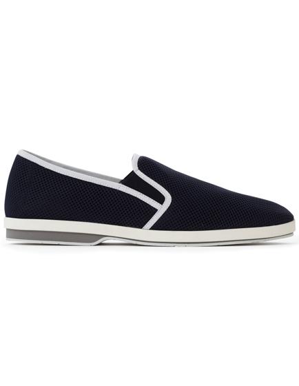 Moncler Cesar Honeycomb Slip-on Sneakers Navy