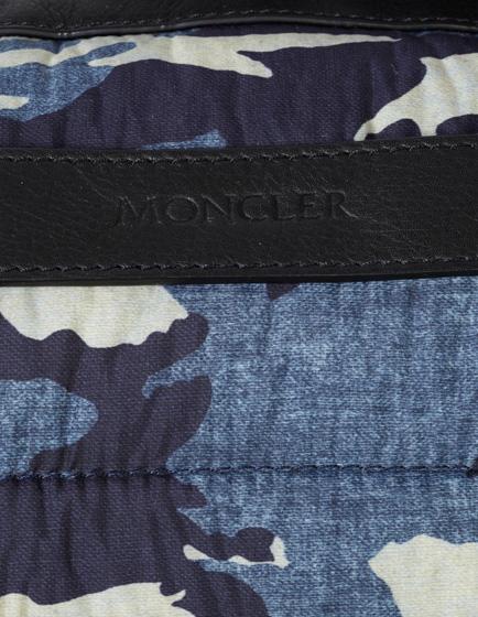 Moncler Bertrand Camo-print Nylon Duffle Bag Blue