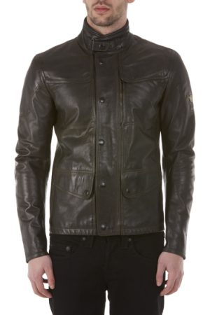 Matchless Kensington Men's Leather Biker Jacket Black