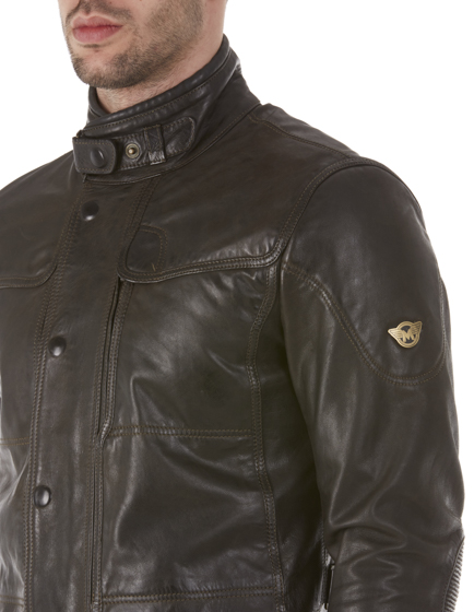 Matchless Kensington Men's Leather Biker Jacket Black