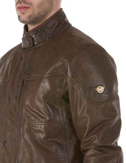 Matchless Kensington Men's Leather Biker Jacket Brown