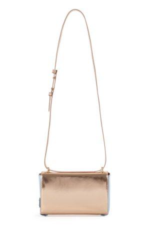 Blumarine Ladies Leather Shoulder Bag Rose Gold