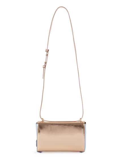 Blumarine Ladies Leather Shoulder Bag Rose Gold