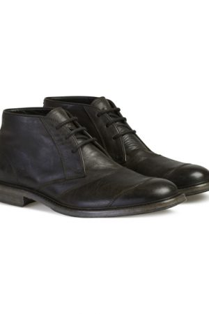 Belstaff Men's Trail Leather Chukka Boots Black