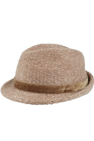 Jacob Cohën Ladies Mohair-blend Trilby Hat Beige