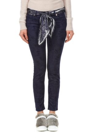 Jacob Cohën Ladies Pattern Slim Fit Jeans Blue