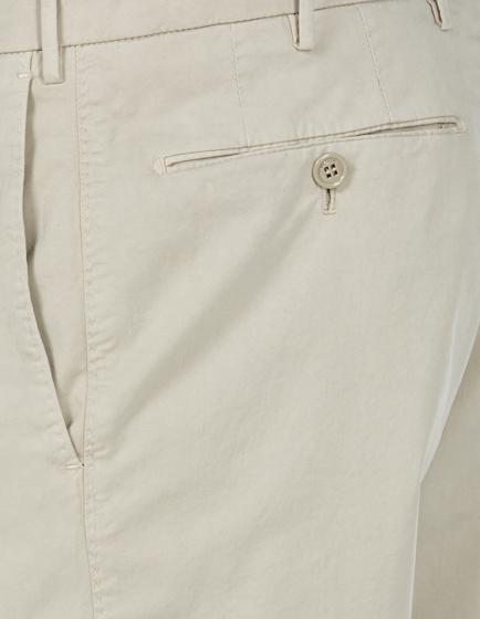 Pal Zileri Men's Slim-fit Cotton Chino Trousers Beige