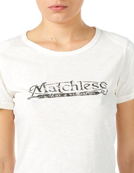 Matchless Ladies Logo T-shirt White