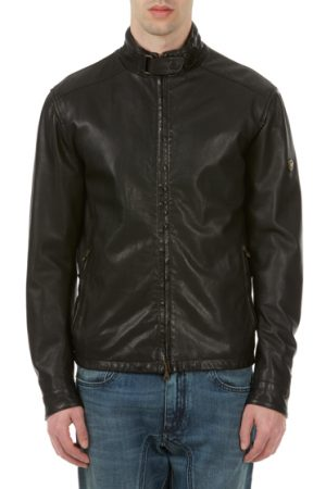 Matchless Johnny Men's Nappa Leather Biker Blouson Black