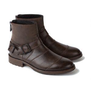 e5c8b4bcb9f13 Belstaff Trialmaster Men s Leather Short Biker Boots Brown