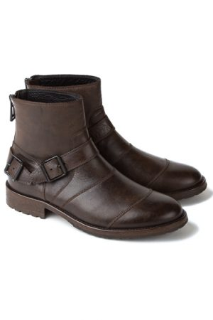 Belstaff Trialmaster Men's Leather Short Biker Boots Brown