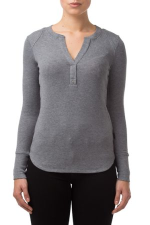 Belstaff Elaine Henley Ladies Melange Top Grey