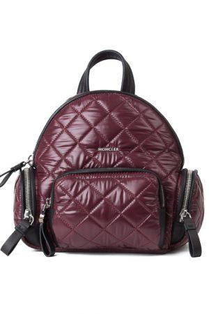 Moncler Florine Ladies Down Quilted Nylon Backpack Burgundy